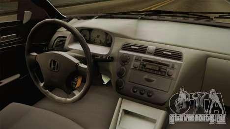 Honda Civic İ-Vtec для GTA San Andreas вид изнутри
