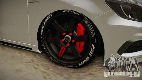 Mercedes-Benz A45 AMG 2012 для GTA San Andreas вид сзади