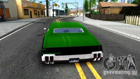 Sabre Drift Green Strips для GTA San Andreas вид сзади слева