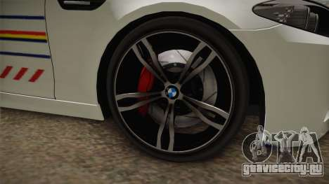 BMW M5 F10 Romanian Police для GTA San Andreas вид сзади
