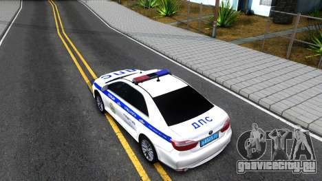 Toyota Camry Russian Police для GTA San Andreas вид сзади