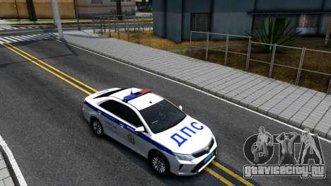 Toyota Camry Russian Police для GTA San Andreas вид справа