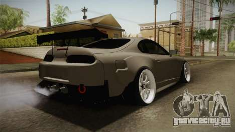 Toyota Supra Widebody для GTA San Andreas вид сзади слева