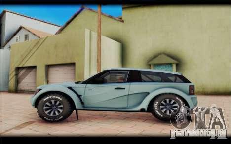 Maps Bowler Nemesis для GTA San Andreas вид сзади слева