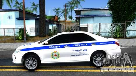 Toyota Camry Russian Police для GTA San Andreas вид слева