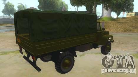 ГАЗ 33081 Садко Военный для GTA San Andreas вид справа