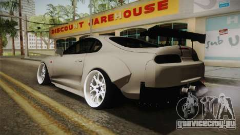 Toyota Supra Widebody для GTA San Andreas вид слева