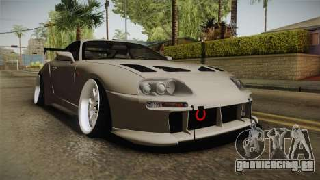 Toyota Supra Widebody для GTA San Andreas вид справа