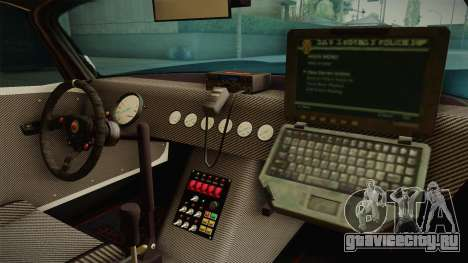 GTA 5 Bravado Banshee Supercop IVF для GTA San Andreas вид изнутри