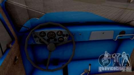 ГАЗ 52-03 для GTA San Andreas вид изнутри