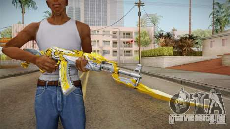 Cross Fire - AK-47 Beast Noble Gold v2 для GTA San Andreas
