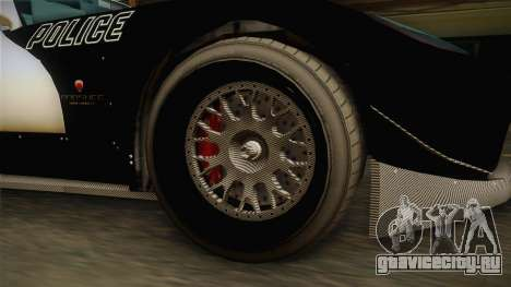 GTA 5 Bravado Banshee Supercop IVF для GTA San Andreas вид сзади