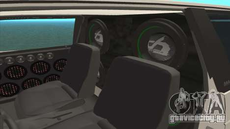 ВАЗ 2113 LoudSound v2.0 для GTA San Andreas вид изнутри