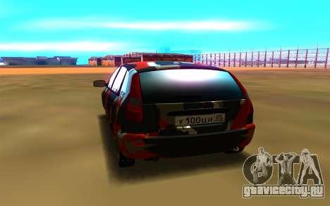 Lada Kalina 1117 для GTA San Andreas вид сзади