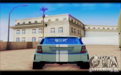 Maps Bowler Nemesis для GTA San Andreas вид сзади