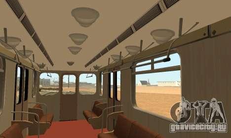 Метросостав типа Еж3 для GTA San Andreas салон