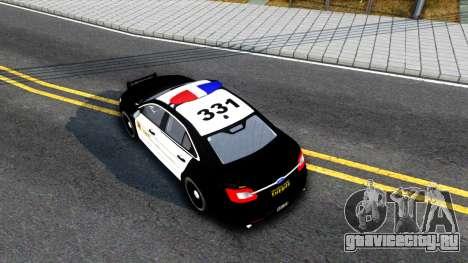 Ford Taurus LASD Interceptor для GTA San Andreas вид сзади
