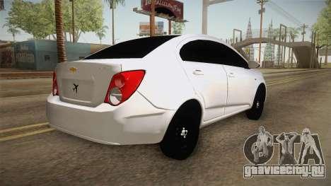 Chevrolet Sonic Beta для GTA San Andreas вид слева