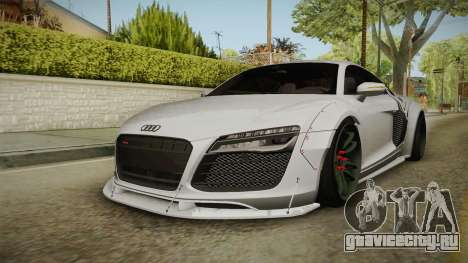 Audi R8 V10 Plus LB Performance для GTA San Andreas вид сзади слева