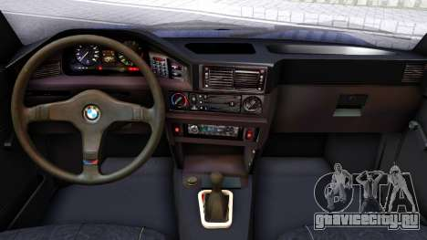 BMW E28 525e для GTA San Andreas вид изнутри