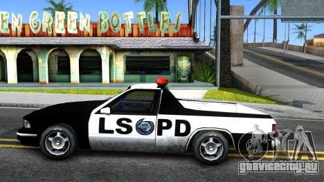 New Police Car для GTA San Andreas вид слева