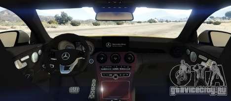 Mercedes C63S AMG Coupe для GTA 5 вид сзади слева