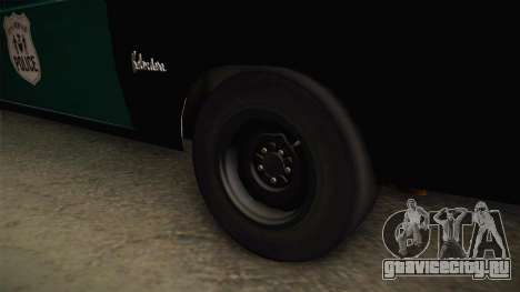 Plymouth Belvedere Station Wagon 1965 NYPD для GTA San Andreas вид сзади