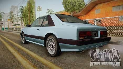 GTA 4 Uranus Cabrio для GTA San Andreas вид слева