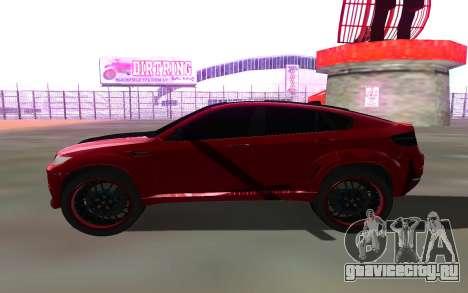 BMW X6 Lumma для GTA San Andreas вид слева