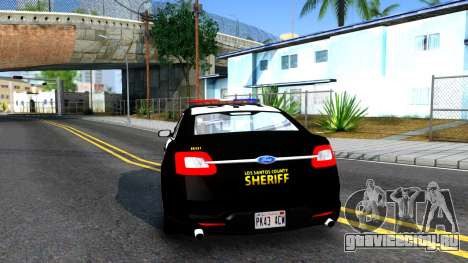 Ford Taurus LASD Interceptor для GTA San Andreas вид сзади слева