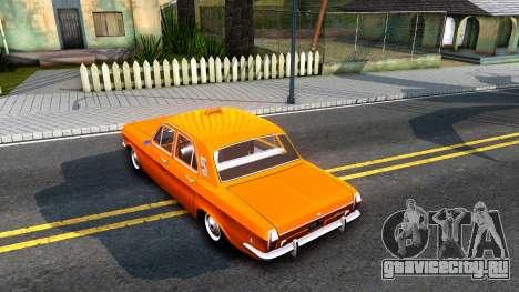 Газ 2401 Такси для GTA San Andreas вид сзади