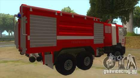 МАЗ 5440 Пожарный для GTA San Andreas вид справа