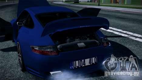 Porsche 911 Turbo 2007 для GTA San Andreas вид снизу