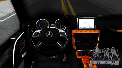 Mercedes-Benz G55 AMG для GTA San Andreas вид изнутри