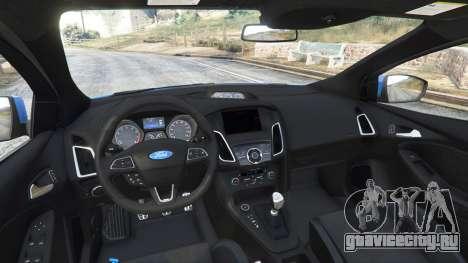 Ford Focus RS (DYB) 2017 [add-on] для GTA 5 вид сзади справа