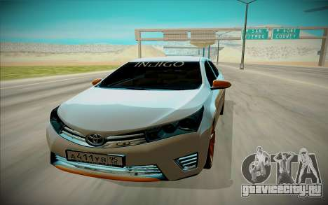 Toyota Corolla для GTA San Andreas вид справа
