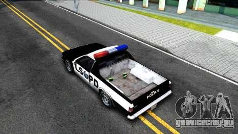 New Police Car для GTA San Andreas вид сзади