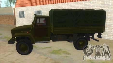 ГАЗ 33081 Садко Военный для GTA San Andreas вид слева