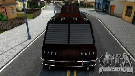 Bus of Future для GTA San Andreas вид изнутри
