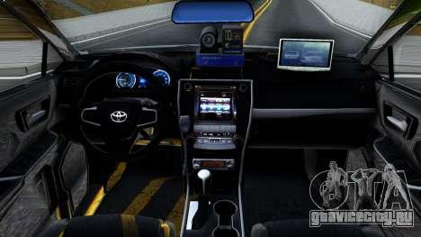 Toyota Camry Russian Police для GTA San Andreas вид изнутри