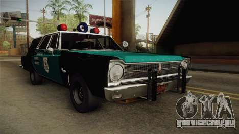 Plymouth Belvedere Station Wagon 1965 NYPD для GTA San Andreas вид справа