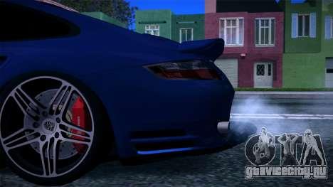 Porsche 911 Turbo 2007 для GTA San Andreas двигатель