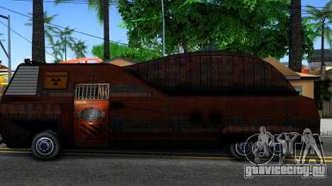Bus of Future для GTA San Andreas вид слева