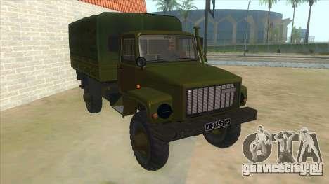 ГАЗ 33081 Садко Военный для GTA San Andreas вид сзади