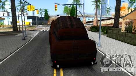 Bus of Future для GTA San Andreas вид сзади слева