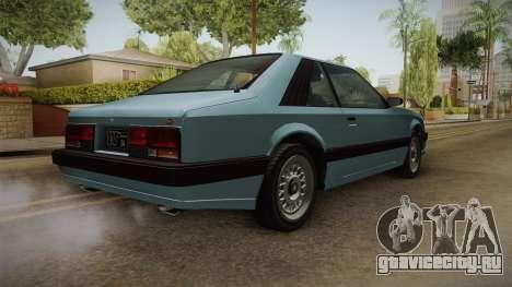 GTA 4 Uranus Cabrio для GTA San Andreas вид справа