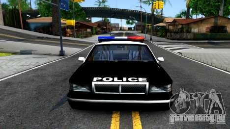 New Police Car для GTA San Andreas вид изнутри