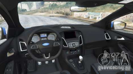 Ford Focus RS (DYB) 2017 [replace] для GTA 5 вид сзади справа