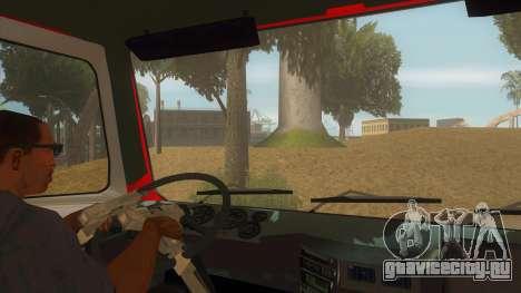 МАЗ 5440 Пожарный для GTA San Andreas вид изнутри
