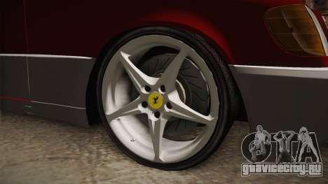 Mercedes-Benz W140 Projekt для GTA San Andreas вид сзади